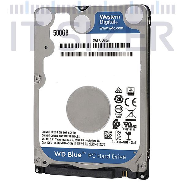Western Digital Blue 2.5-7mm, 500GB SATA, Hard Disk Drive (Renewed)