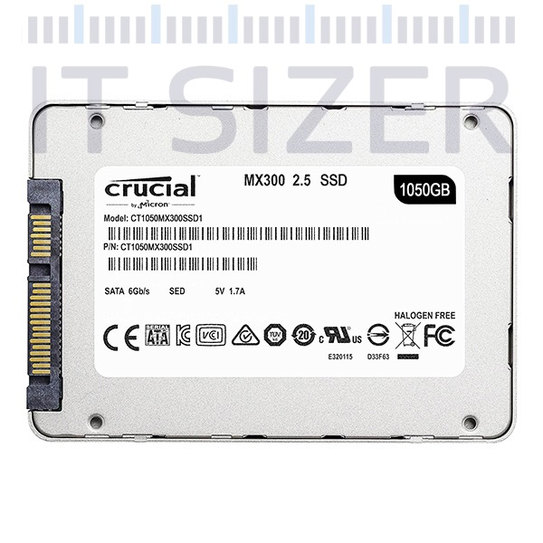 Crucial MX300 2.5-7mm, 1TB, Solid State Drive (SSD) (Renewed)