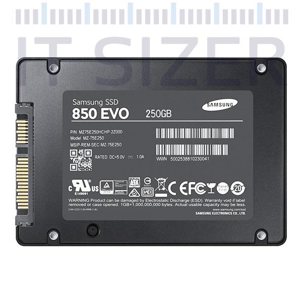 SAMSUNG 850 EVO 2.5-7mm, 250GB, Solid State Drive (SSD) (Renewed)