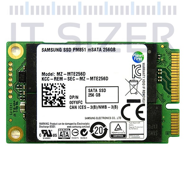 SAMSUNG PM851 2.5-7mm, 256GB mSATA, Solid State Drive (SSD) (Renewed)
